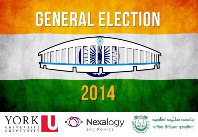 India Election 2014 Study by Nexalogy, York University, and JMI India